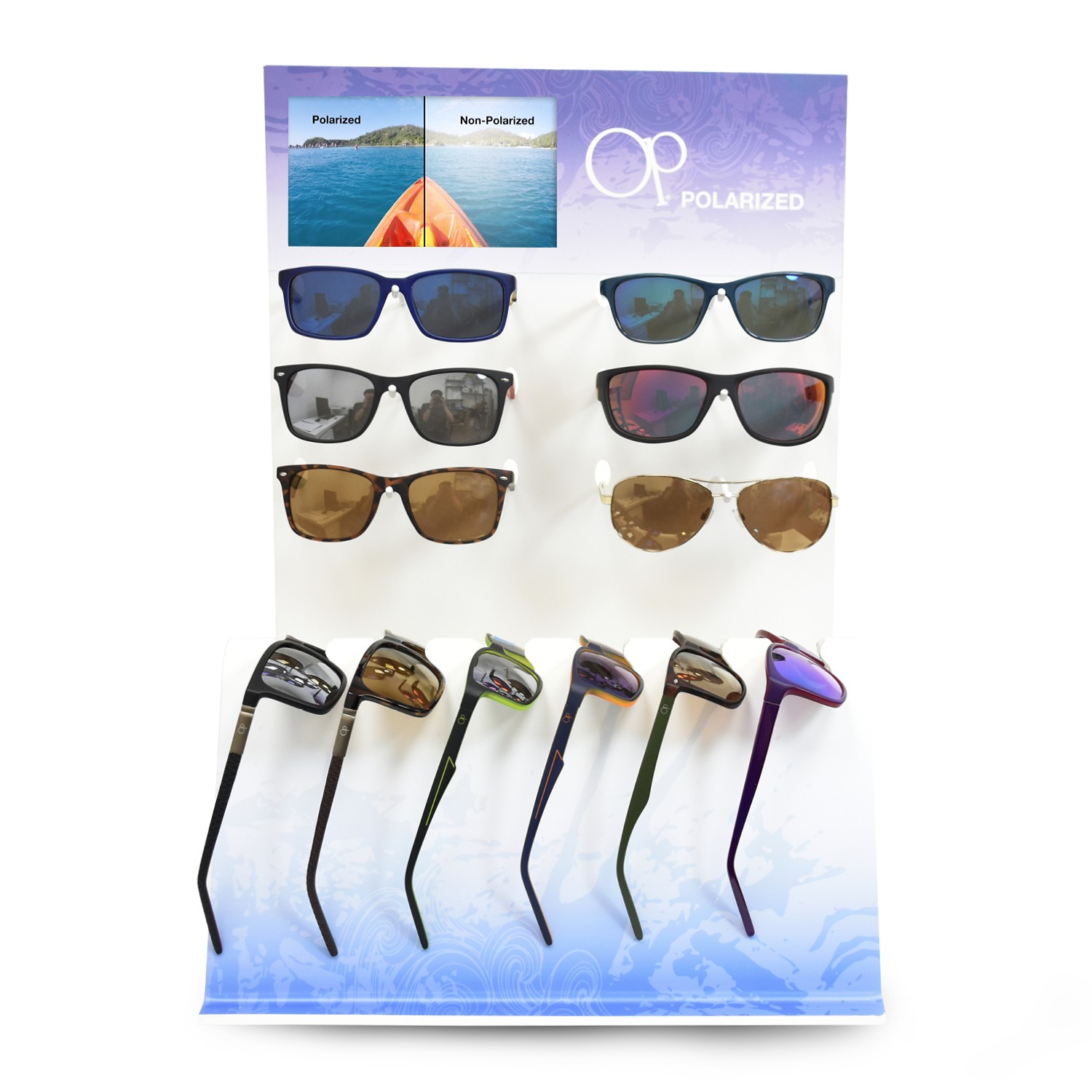 7aa6c1f3797 OCEAN PACIFIC 12 PC POLARIZED DISPLAY (with VIDEO) - POP
