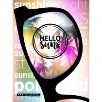 CLEARVISION 2-SIDED SUN HANGING BANNER